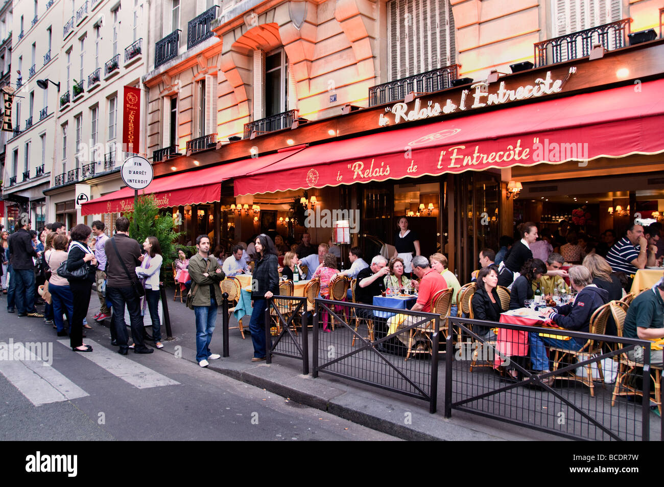 Paris France French Restaurant Cafe Bar Pub Food - Stock Image