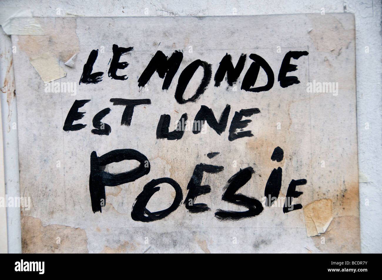 Le Monde et une Poesie The world is a poetry - Stock Image