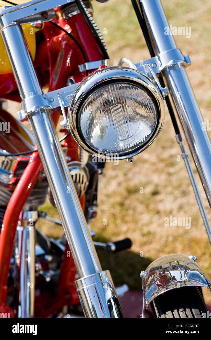 chopper motorbike - Stock Image