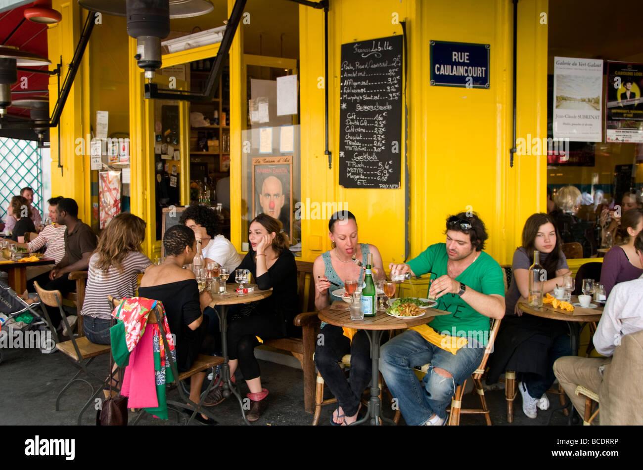 Paris France French Restaurant Cafe Bar Pub - Stock Image