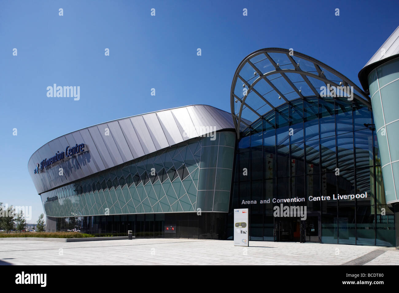 Arena and Convention Centre in Liverpool UK - Stock Image