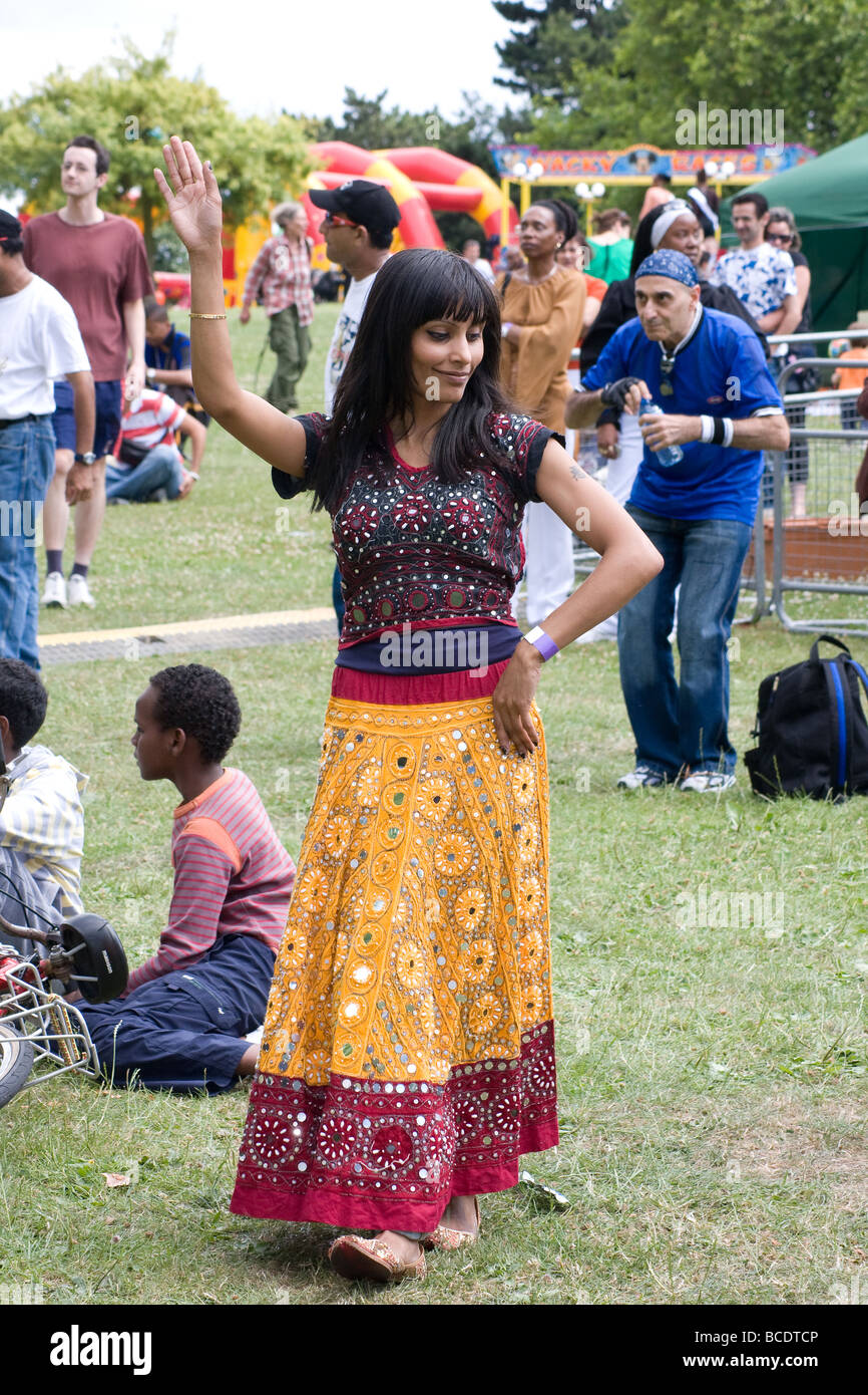 brent multicultural festival Roundwood Park Harlesden London England UK Europe - Stock Image