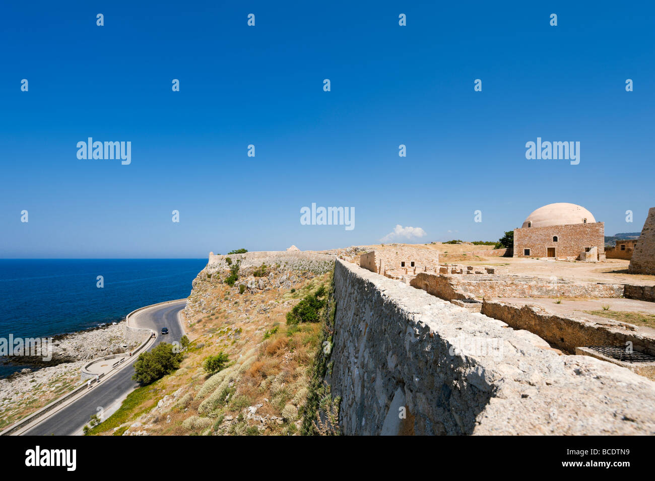 View from the walls of the 16th Century Venetian Fortezza (Fortress), Rethymnon, North West Coast, Crete, Greece Stock Photo