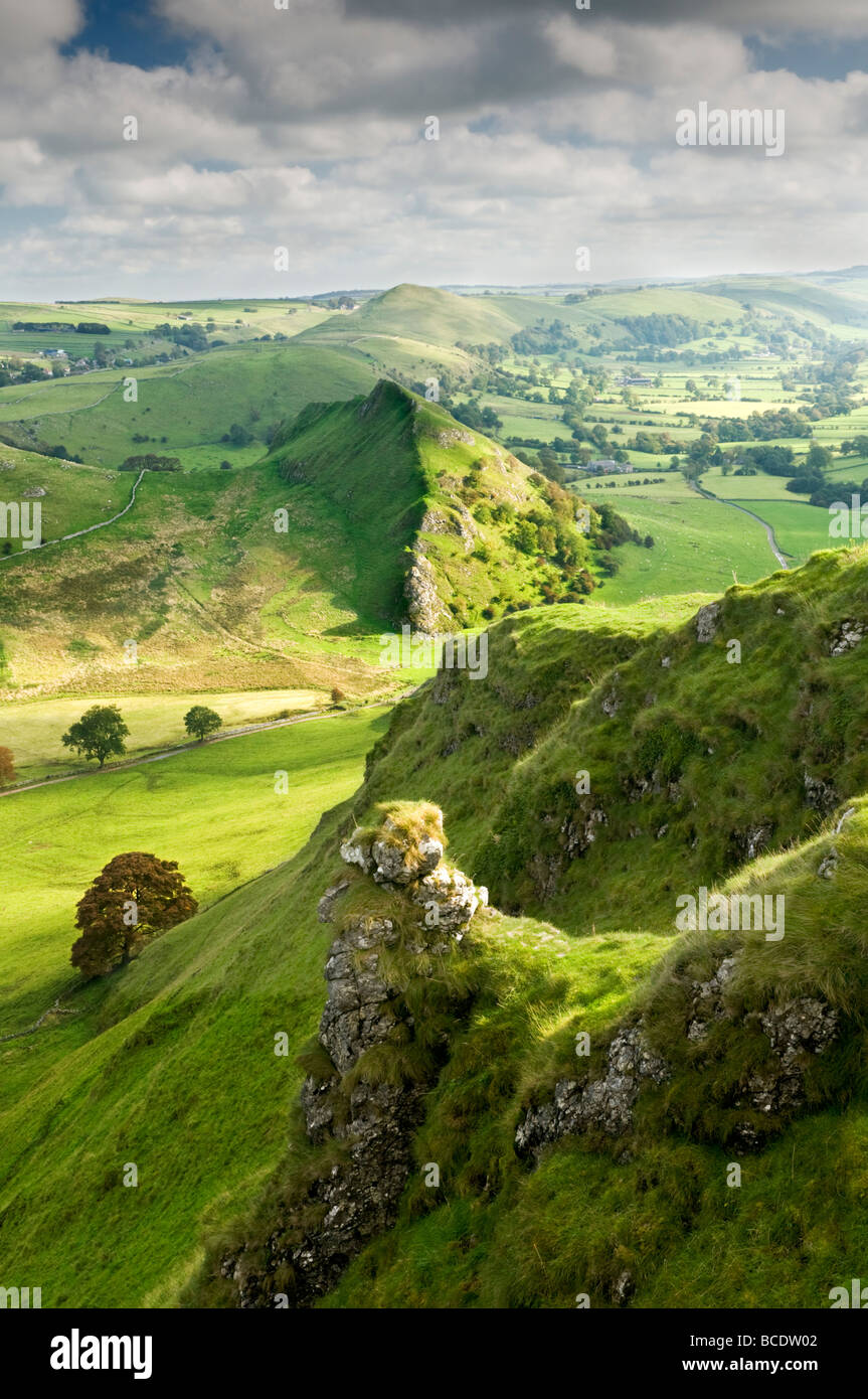 Parkhouse Hill from The Top of Chrome Hill, Peak District National Park, Derbyshire, England, UK - Stock Image