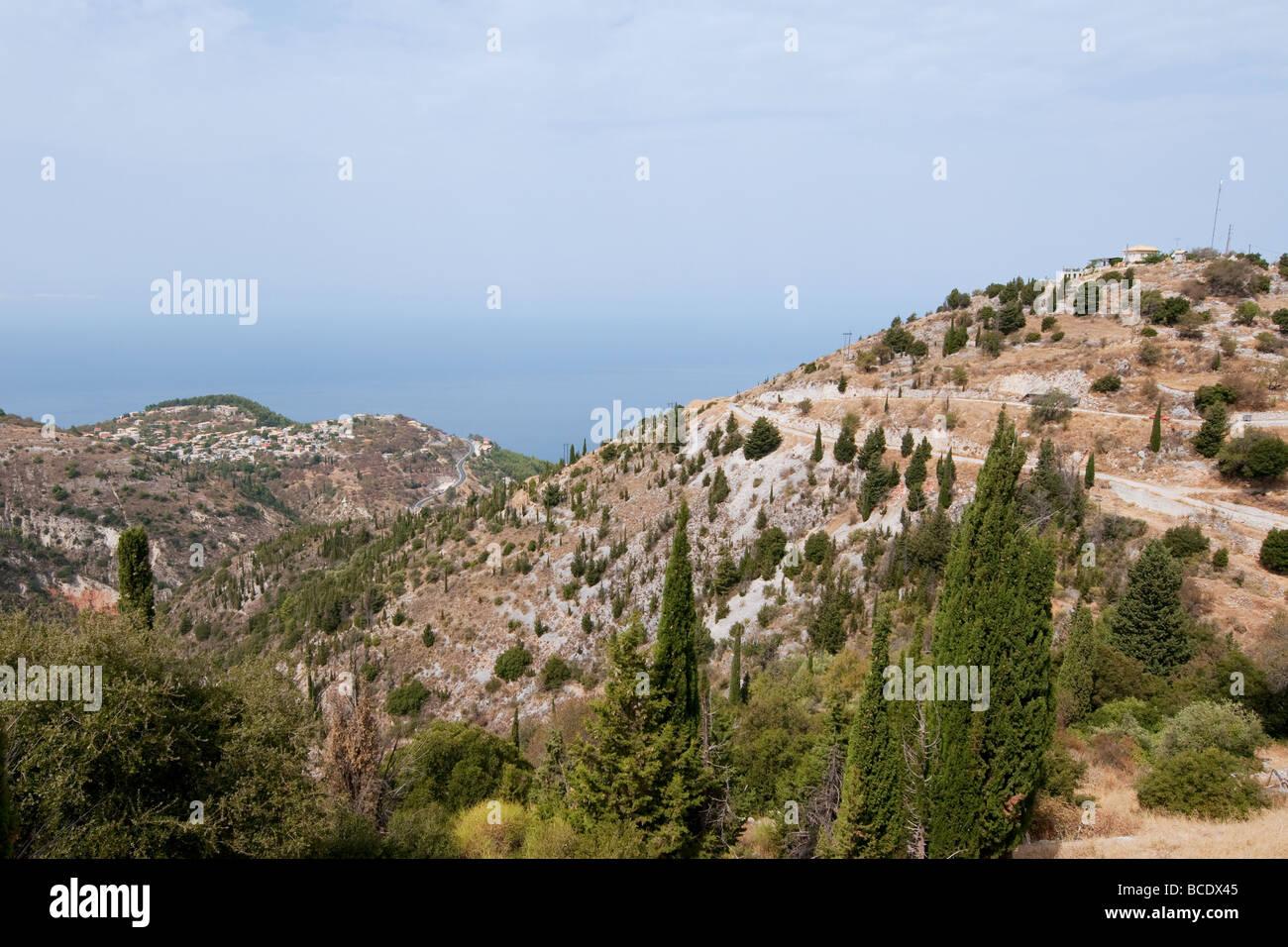 Landscape from Greek mainland near the west coast Greece - Stock Image