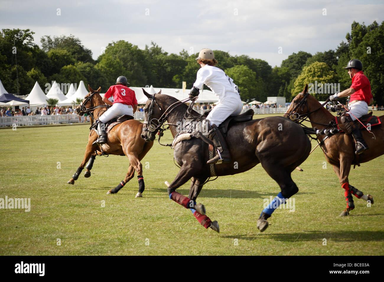 Polo match,England vs Argentina - Stock Image