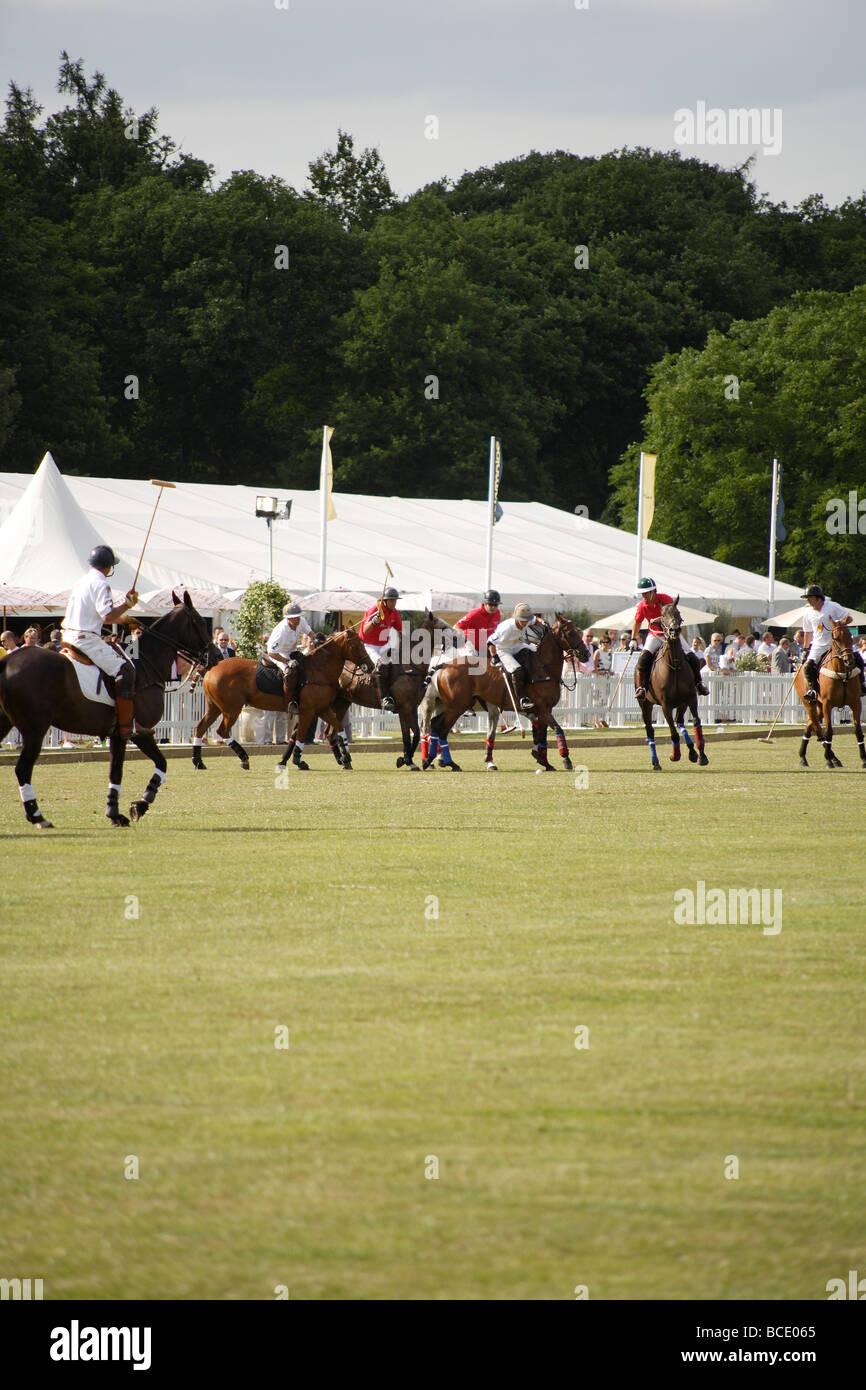 Polo match,England vs Argentina,portrait - Stock Image