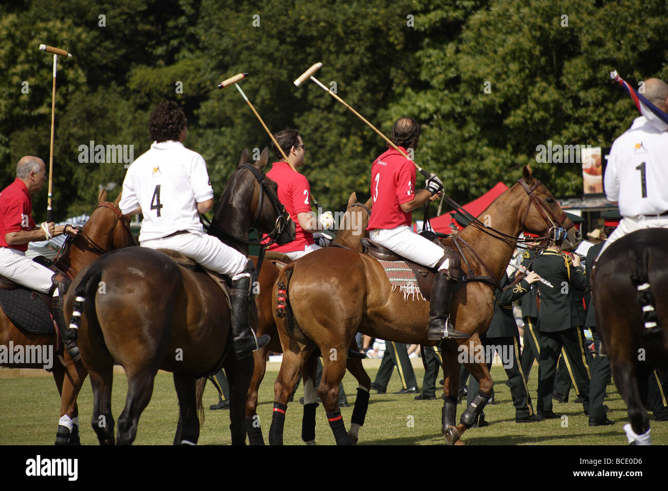 Polo match,England vs Argentina,summer game,south east of england - Stock Image