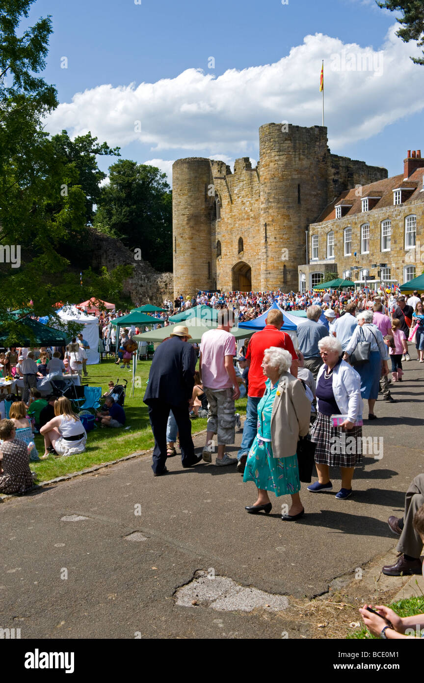 Crowds at the 2009 carnival in Tonbridge, Kent, England. - Stock Image