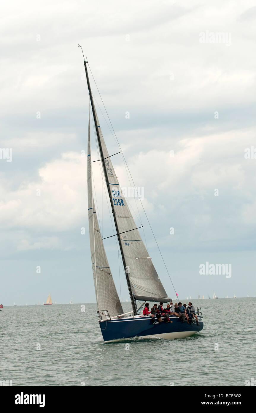 Round the Island Race 2009 Ker 39 - Stock Image