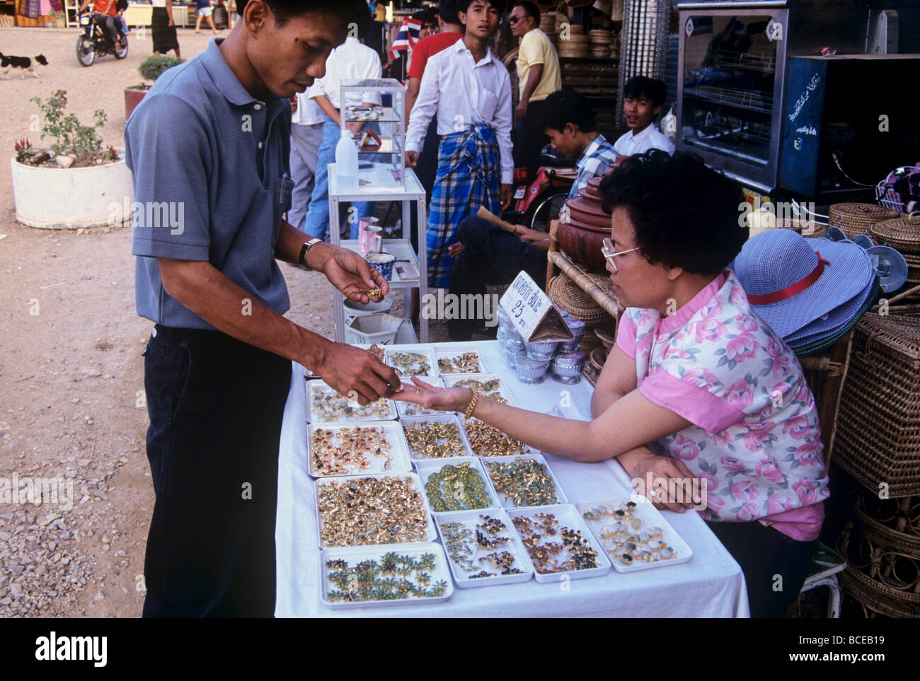 2469 Jewellery Market Mae Sot Western Thailand Stock Photo
