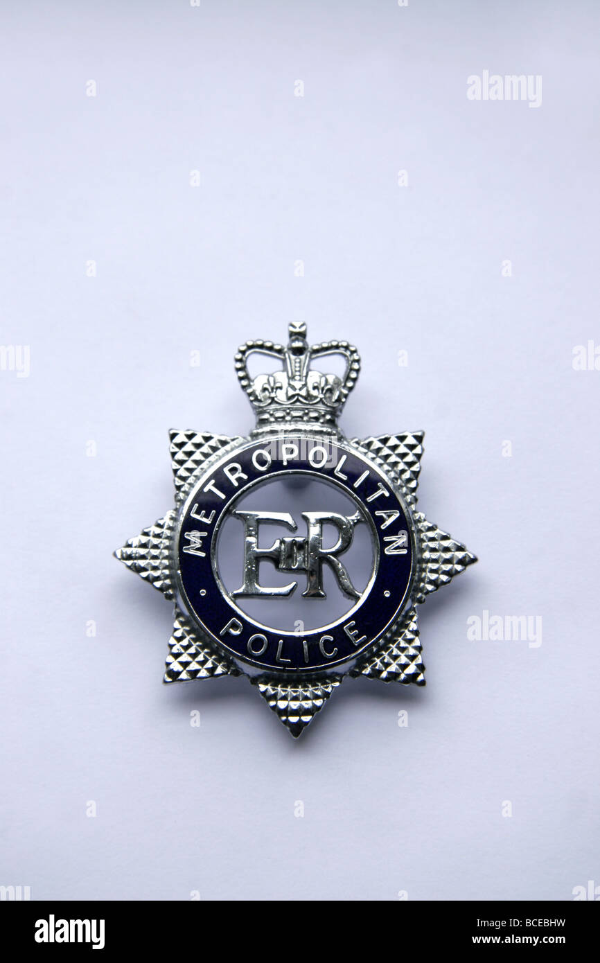 London Metropolitan Police Badge - Stock Image