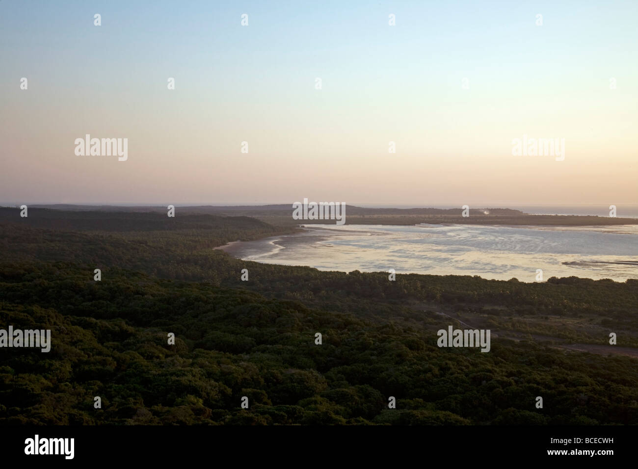 Mozambique, Inhaca Island. View from the Northern Lighthouse on Inhaca Island. Stock Photo