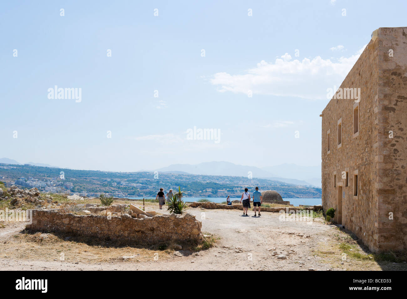 The Councillor's Residence in the 16th Century Venetian Fortezza (Fortress), Rethymnon, Crete, Greece Stock Photo
