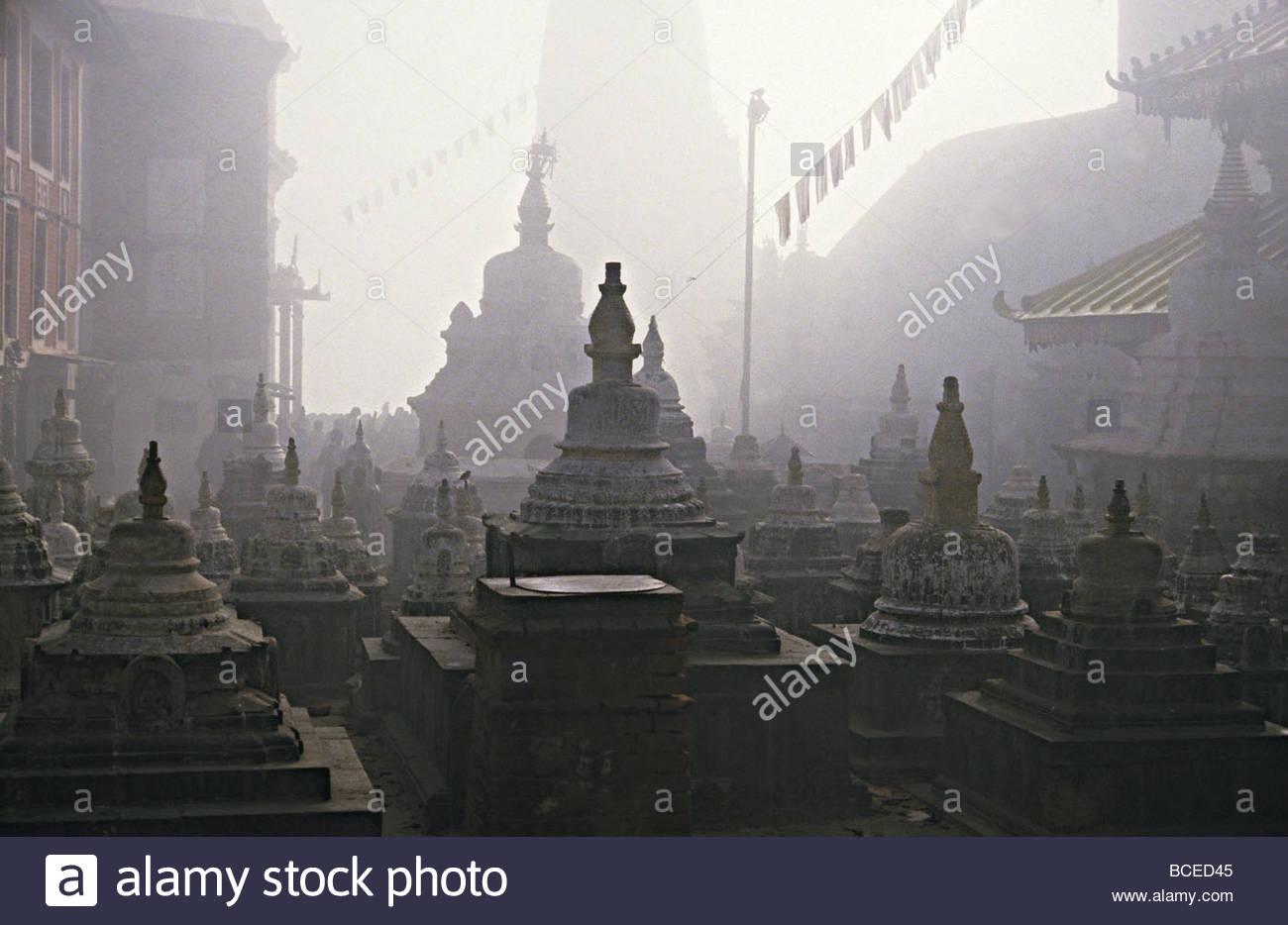 Katmandu temple,Nepal. - Stock Image