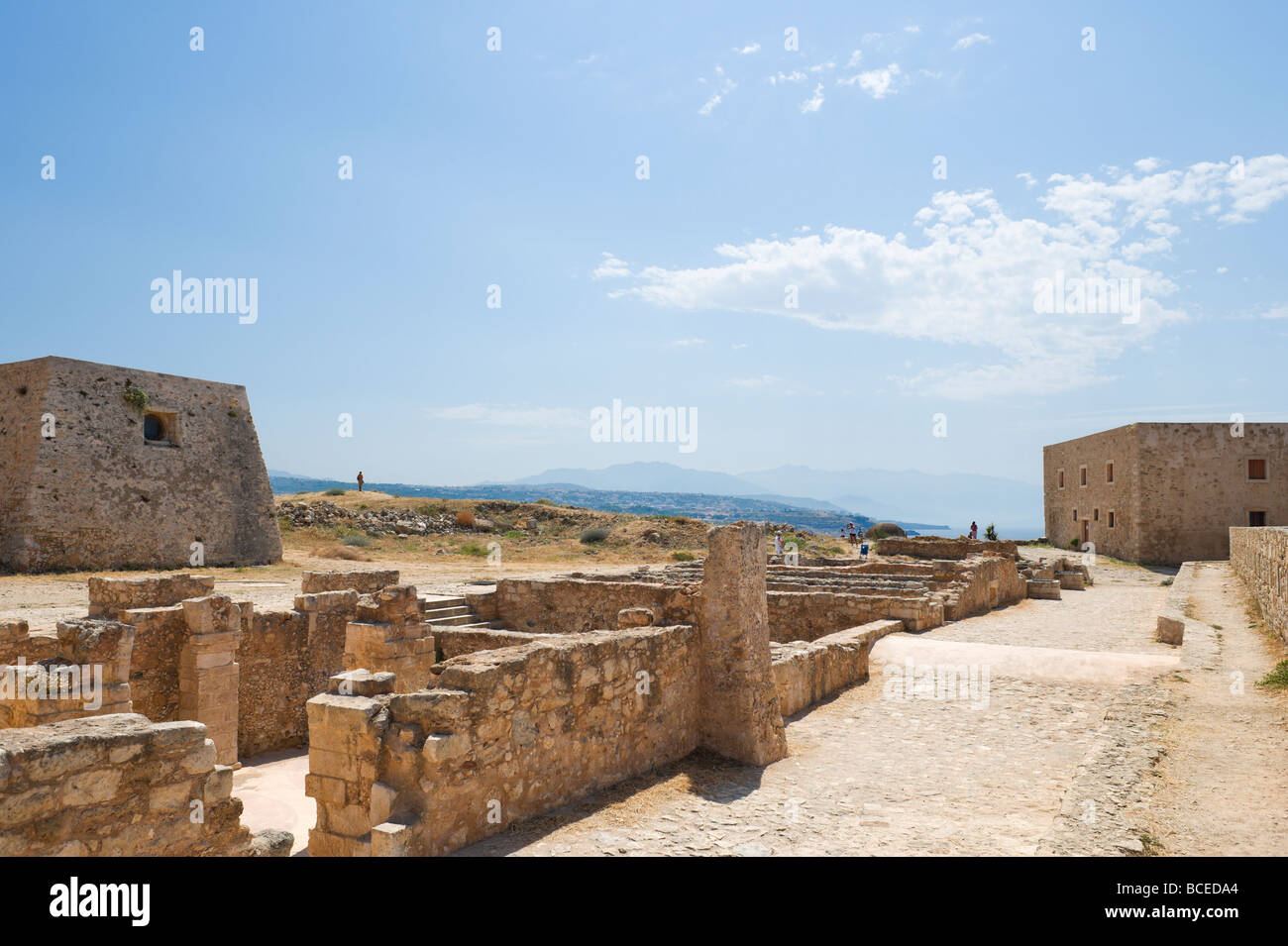 The Councillor's and Rector's Residences in the 16th Century Venetian Fortezza (Fortress), Rethymnon, Crete, Greece Stock Photo