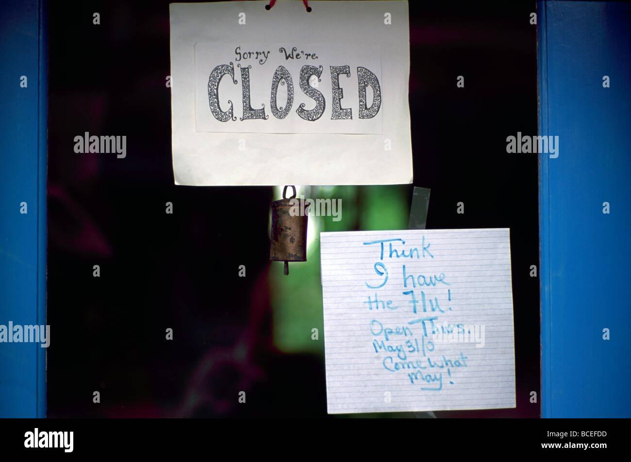 closed sign on door