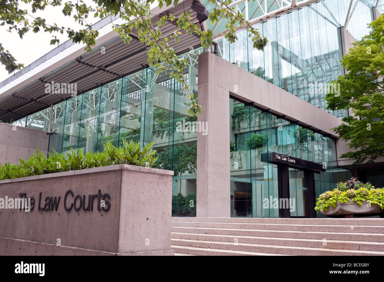 Provincial law courts, Robson Square, Vancouver, BC, Canada - Stock Image