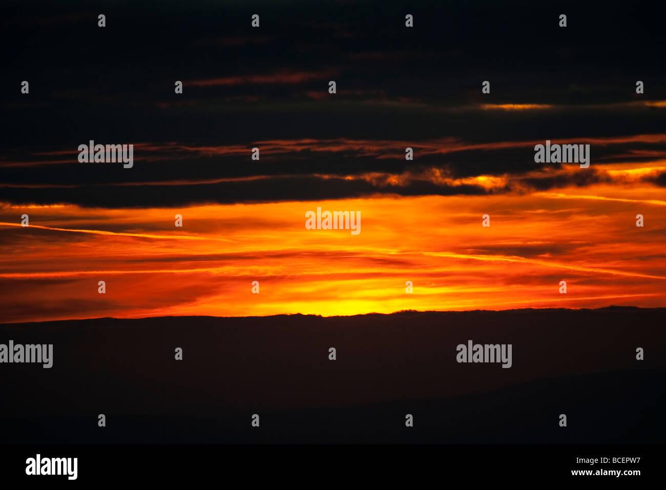 Niederhorn Beatenberg Berner Oberland Schweiz sunset Sonnenuntergang - Stock Image