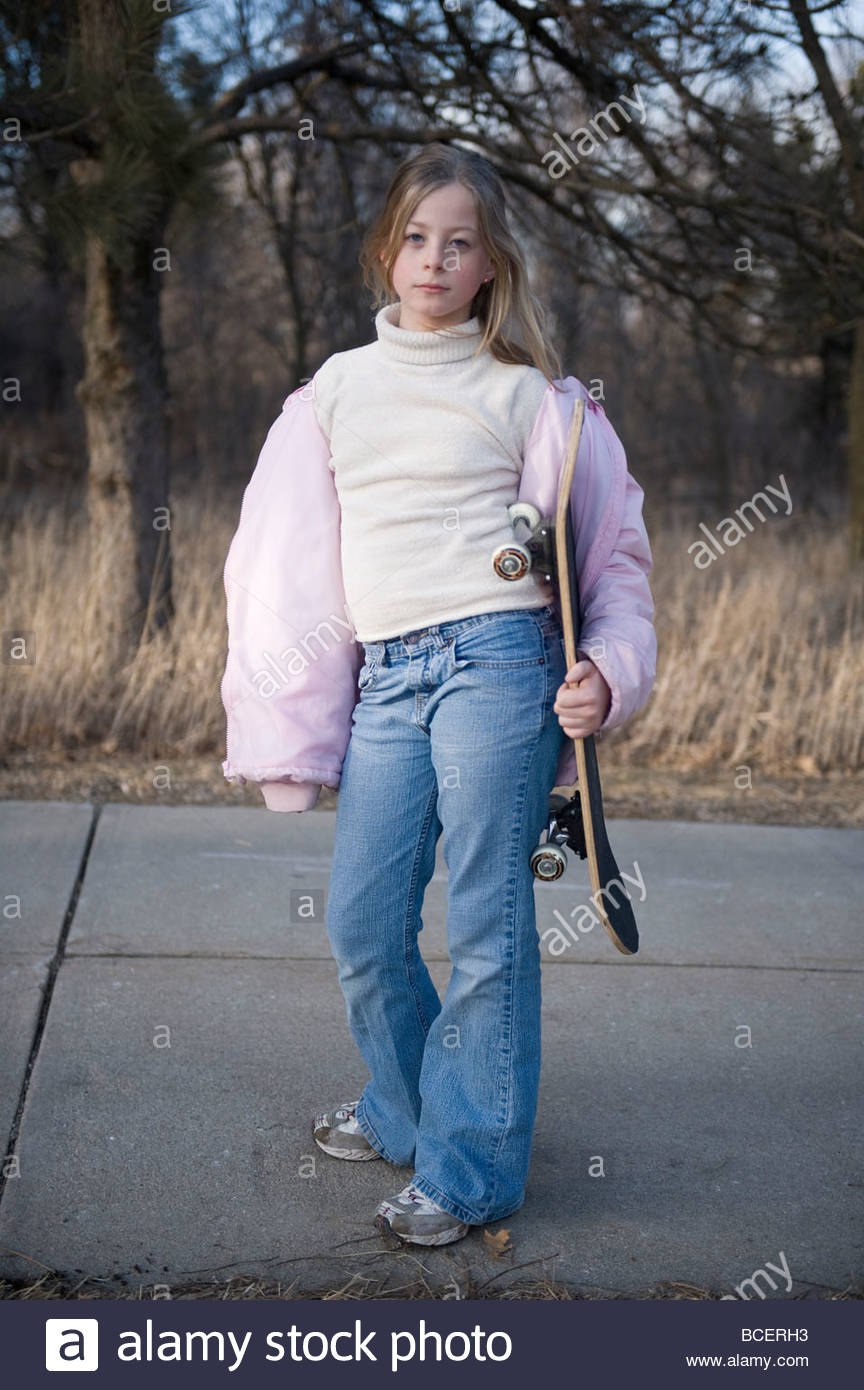 Girl 11 Years Skateboard Stock Photos & Girl 11 Years