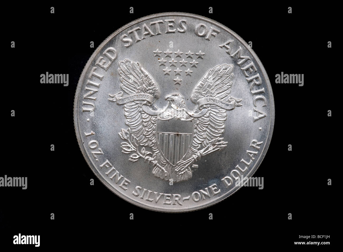 US silver one dollare - Stock Image