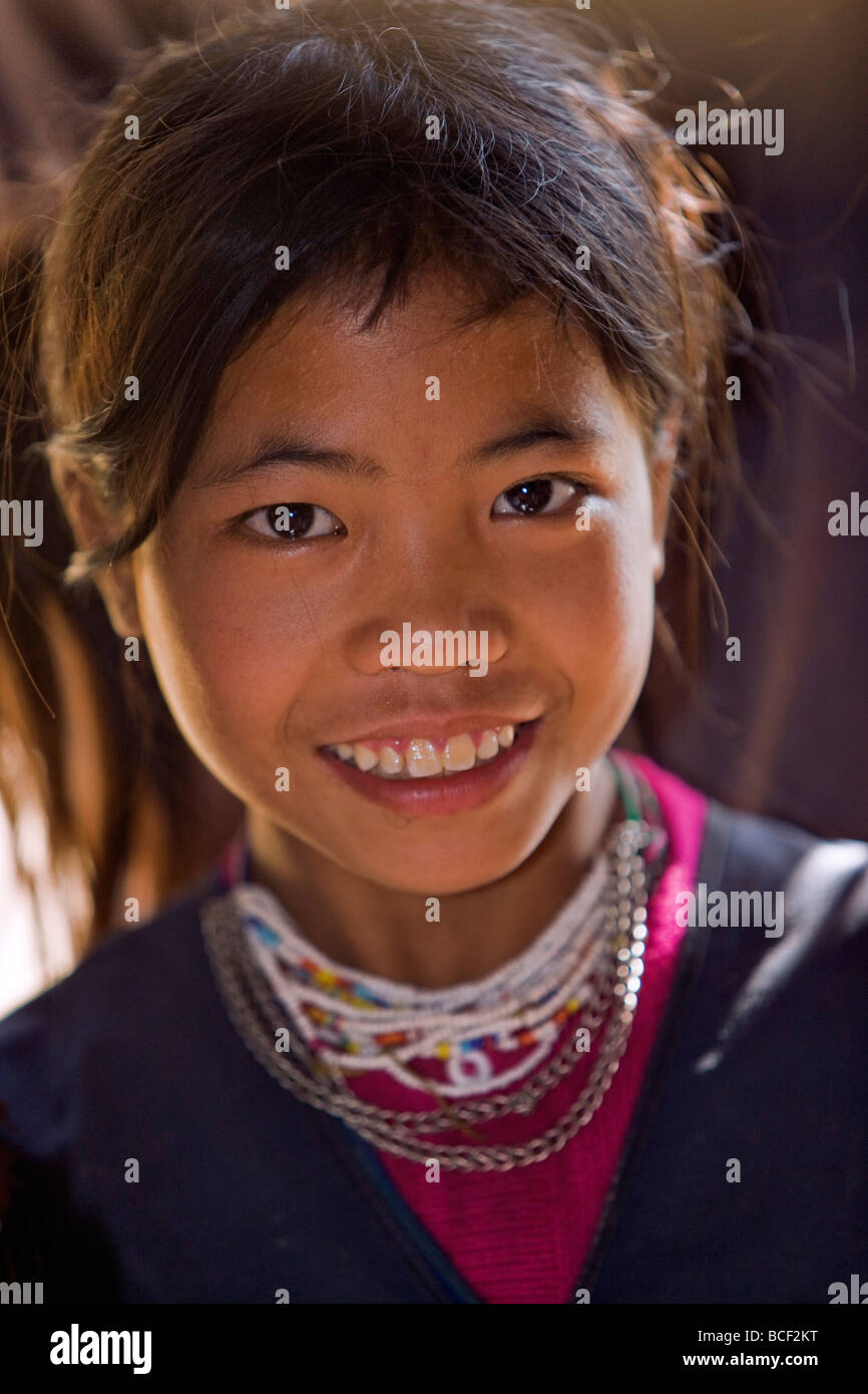 Myanmar, Burma, Wan-seeing. Wan-seeing village. The Loi, a Hill Tribe, live in 7 villages scattered the Shan Mountains. - Stock Image