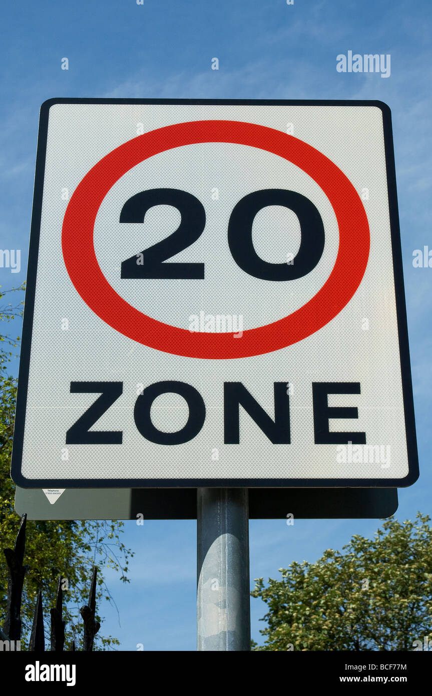 20 miles per hour speed restriction sign East Yorkshire England UK ...