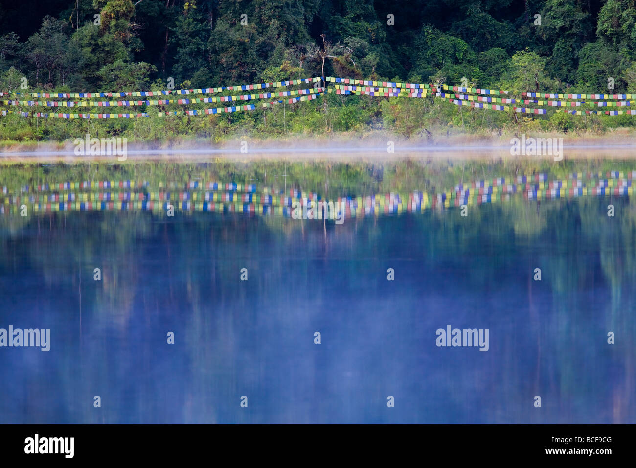 India, Sikkim, Khecheopalri Lake,  - Holy lake highly revered by SKikkimese Buddhists - Stock Image