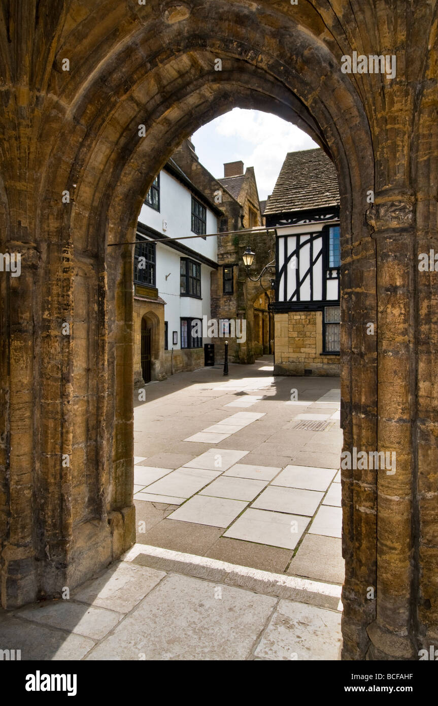 The Conduit originally built as monk's washing place in the Abbey cloister circa 16th century Sherborne Dorset UK - Stock Image
