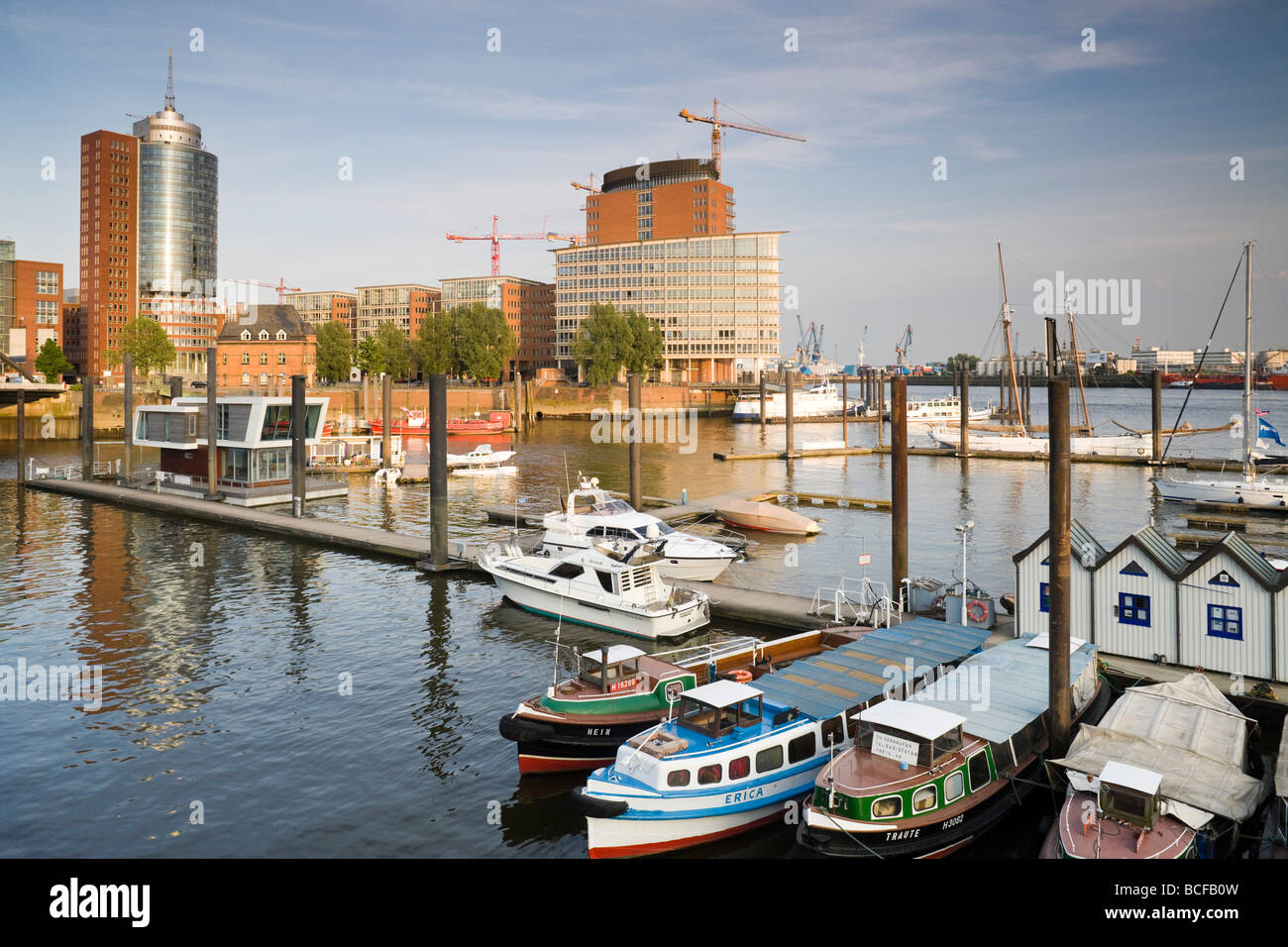 Germany, State of Hamburg, Hamburg, Hafen City new commercial district - Stock Image