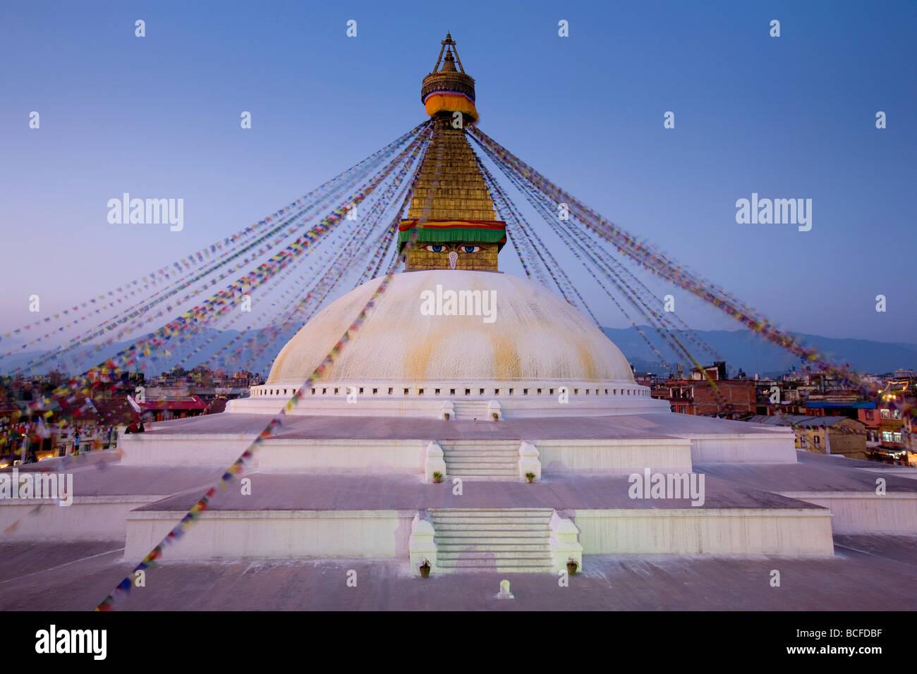 Bodnath (Boudhanath) Stupa, Kathmandu, Nepal - Stock Image