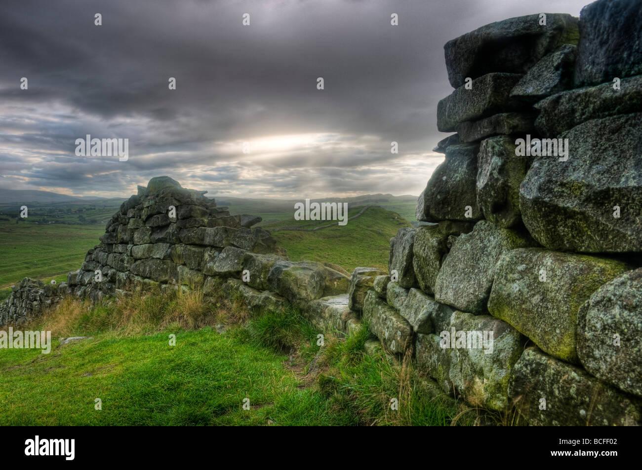 UK, Northumberland, Hadrians Wall - Stock Image