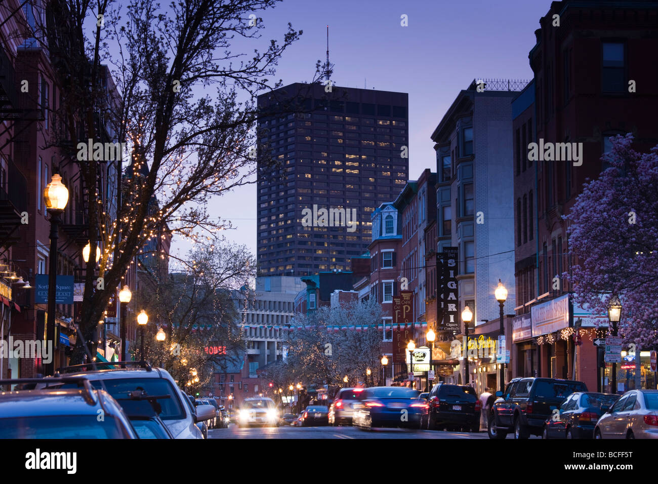USA, Massachusetts, Boston, North End, Little Italy, Hanover Street - Stock Image