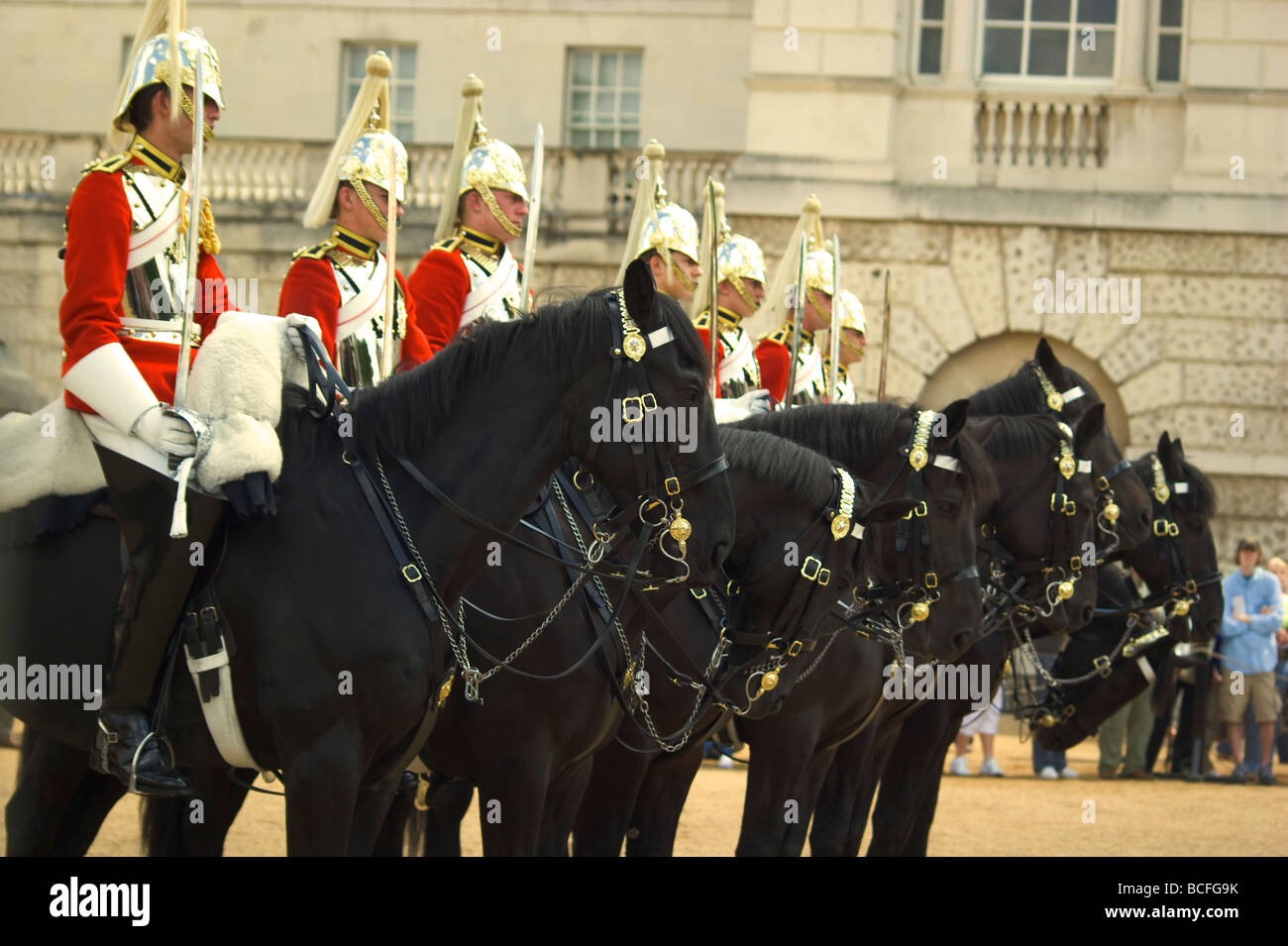 Horseguards  parade in St.James'Park ,central London England UK - Stock Image