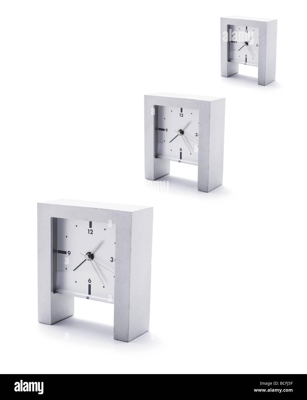 Mantlepiece Clocks - Stock Image