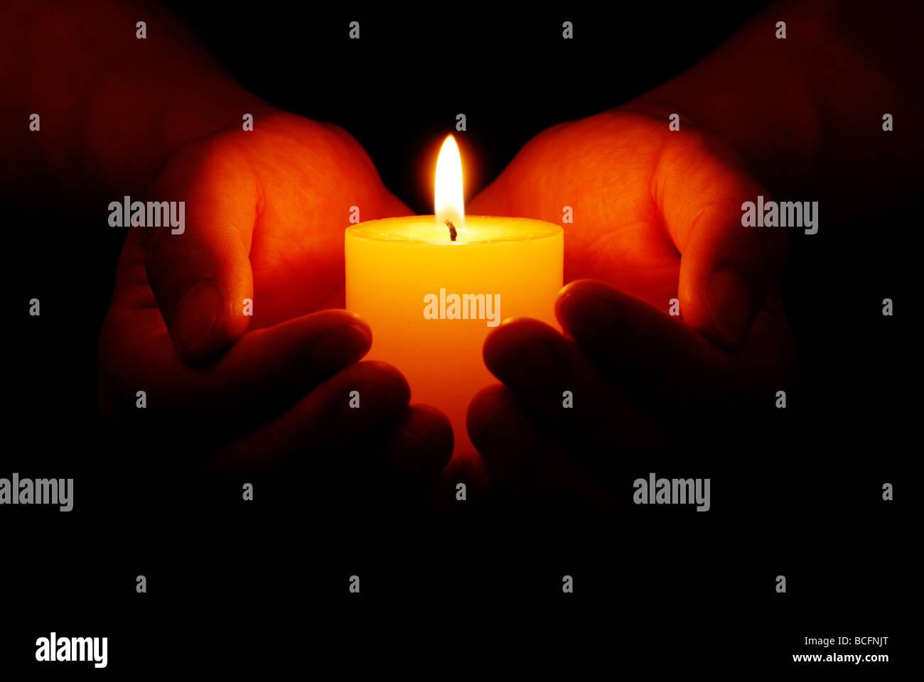 Hope illuminates - Stock Image