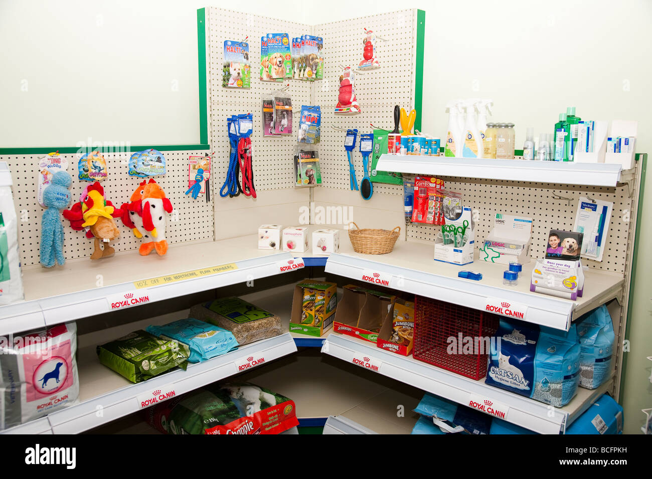Commercial Display in Veterinary Surgery - Stock Image