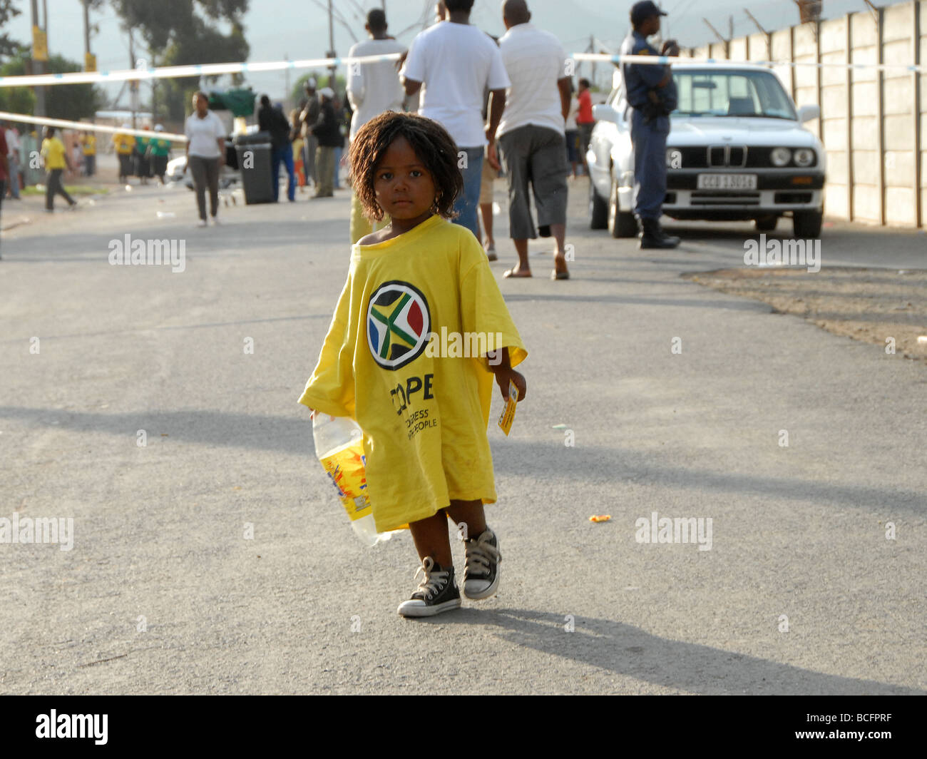 Little girl, campaining for COPE, for the 2009 elections - Stock Image