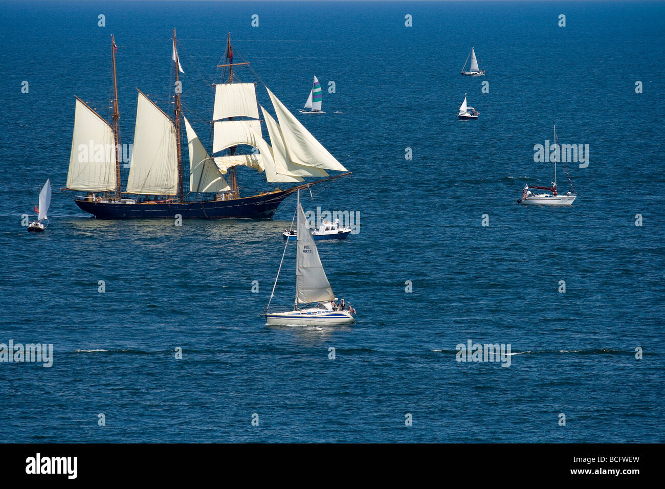 Beginning of Tall Ships Races 2009, Gdynia, Poland - Stock Image
