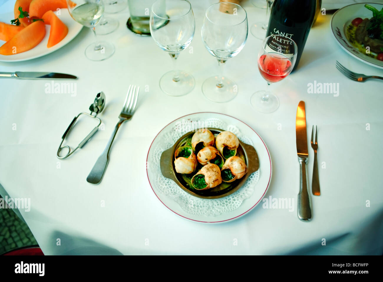 Paris France, 'French Brasserie Restaurant' 'Le Grand Colbert' Detail 'French Food' 'Food - Stock Image