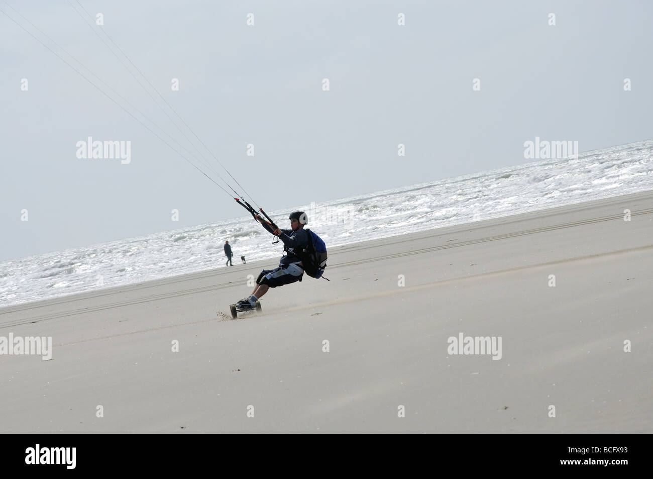 Kite Boarder Wind Energy Motion Stock Photos & Kite Boarder