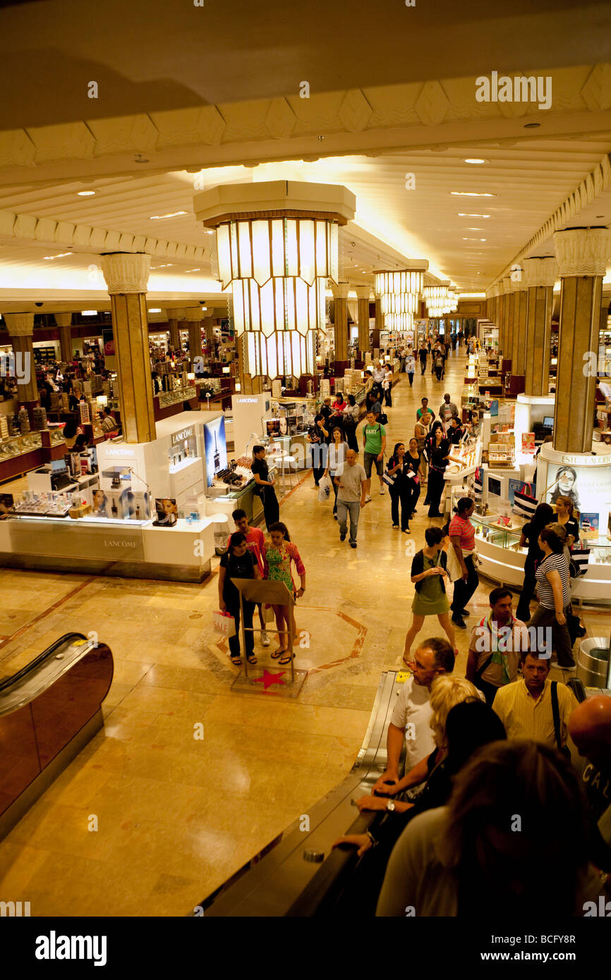 ground floor interior of Macy's flagship department store on 34th Street, New York City, USA - Stock Image