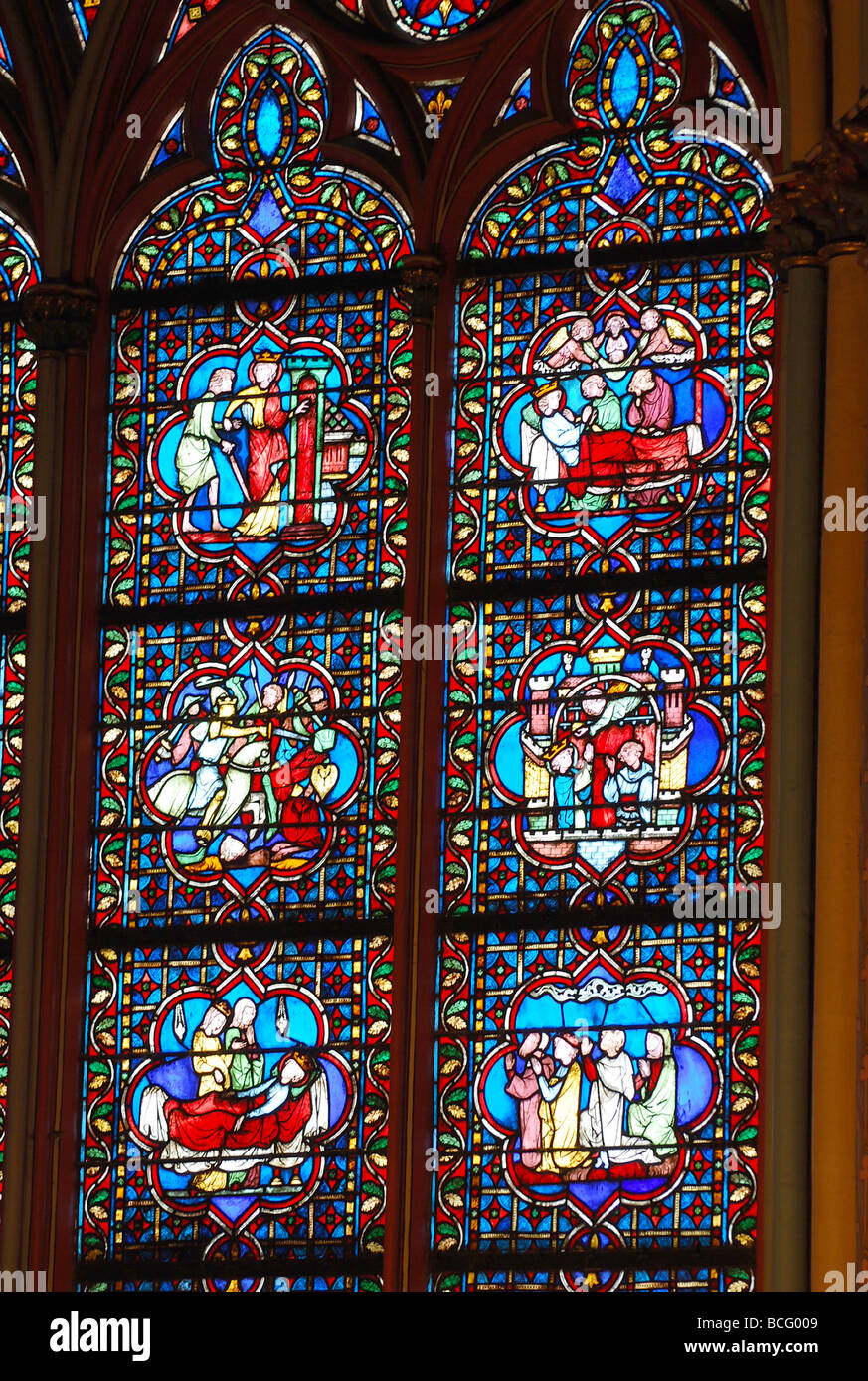 Window detail Notre Dame number 2717 - Stock Image