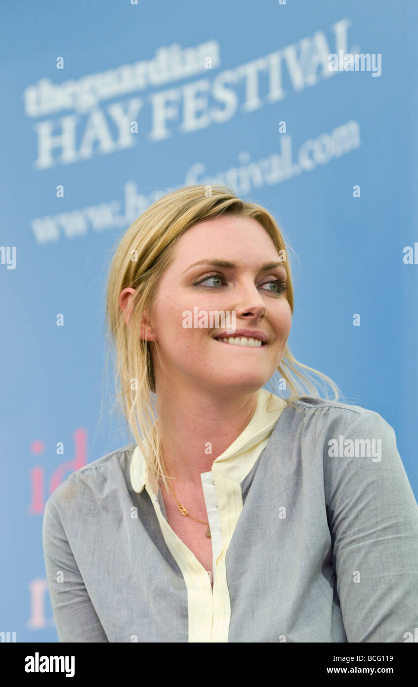 Sophie Dahl British author and former model pictured at Hay Festival 2009 Stock Photo