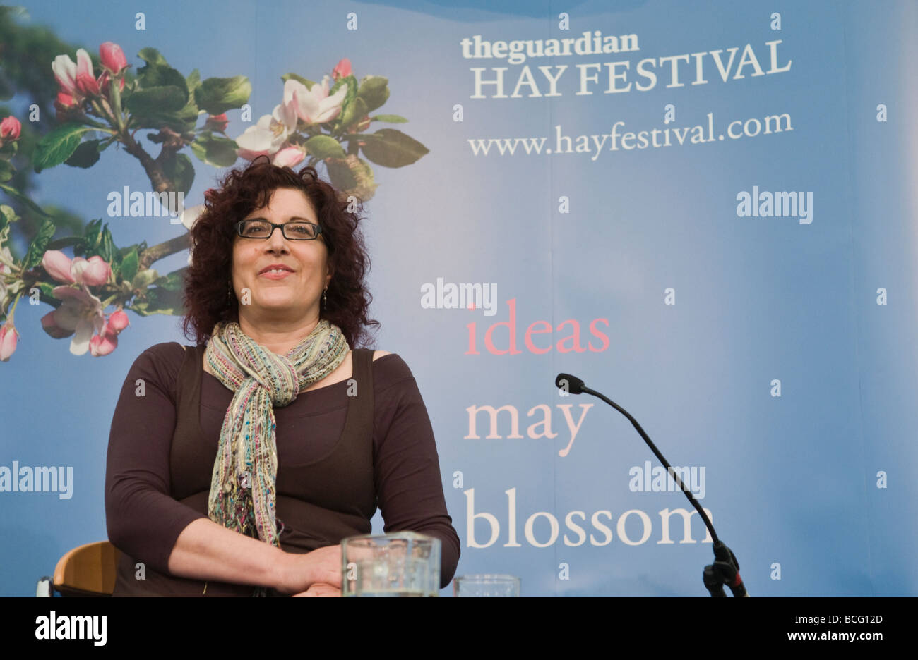 Miri Rubin medieval historian talking about the history of the Virgin Mary  at Hay Festival 2009