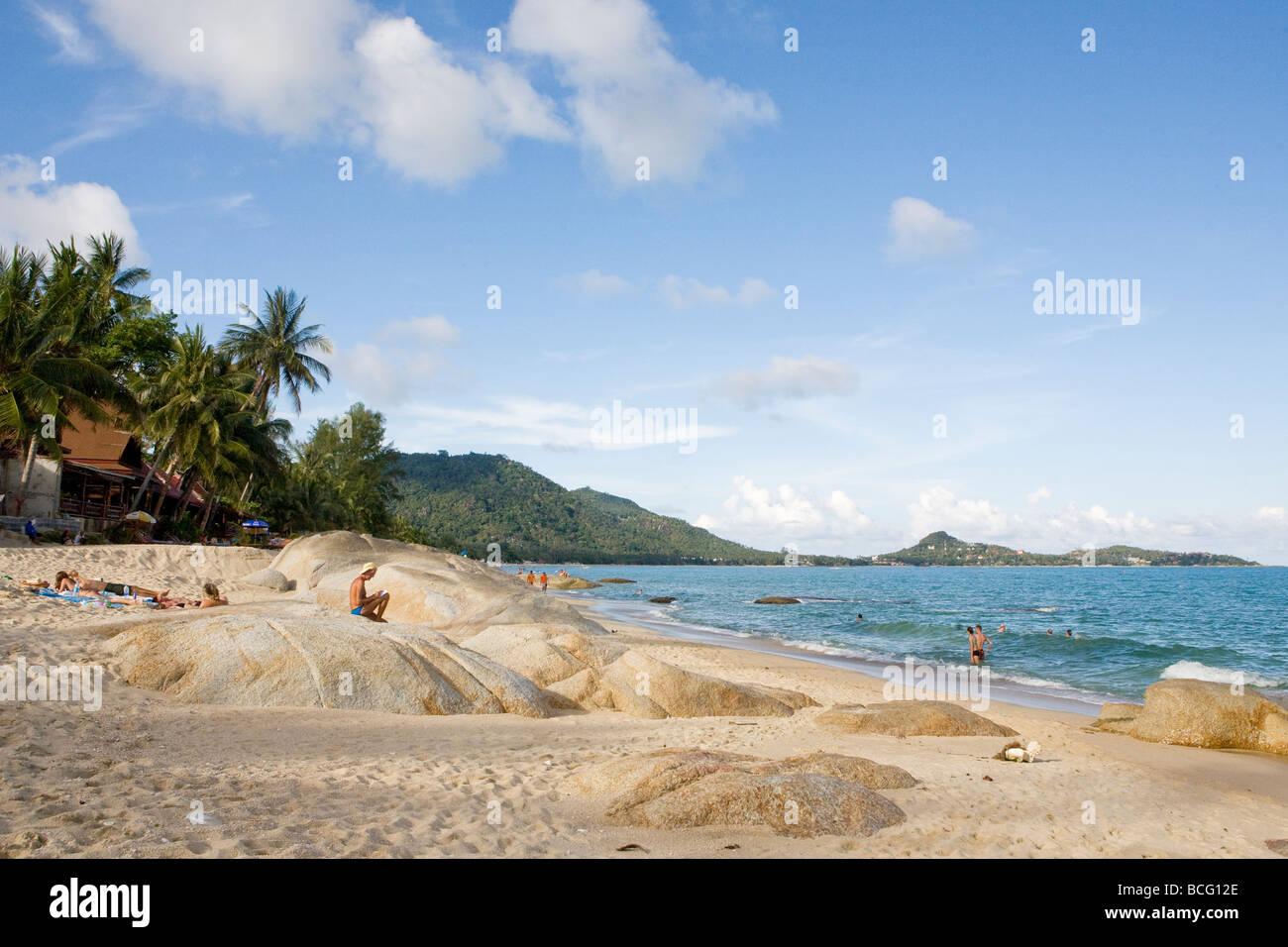 Lamai Beach on Koh Samui, Thailand Stock Photo