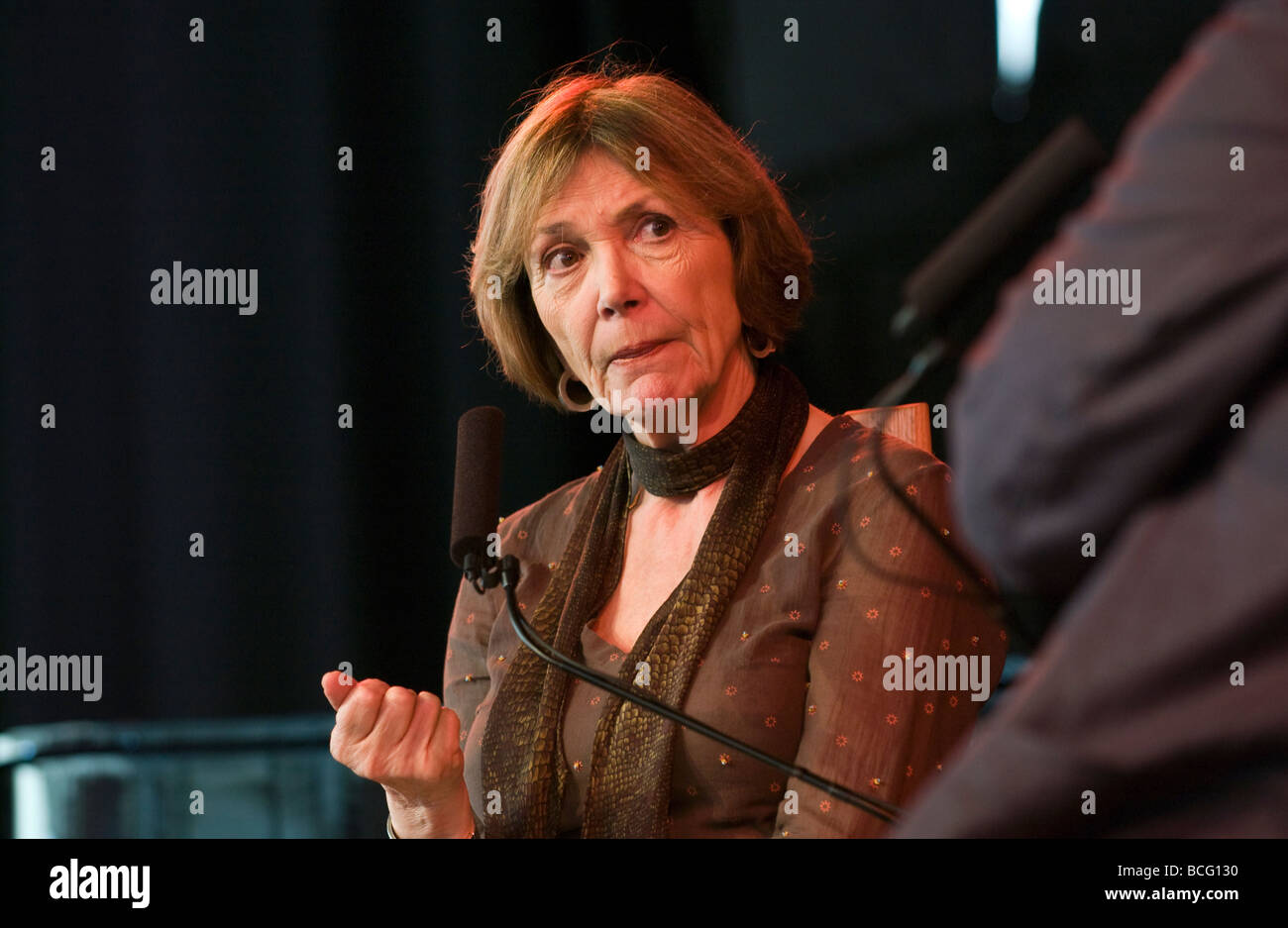 Joan Bakewell English journalist writer author and television presenter pictured at Hay Festival 2009  - Stock Image