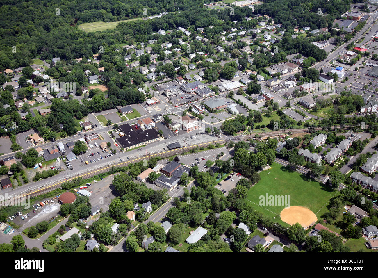 Aerial photo of Berkeley Heights, New Jersey. Union County USA America United States - Stock Image