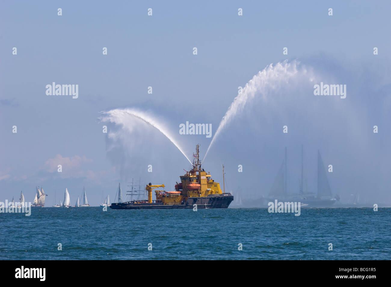 Tall Ships Race 2009 Baltic Sea Gdynia Poland - Stock Image