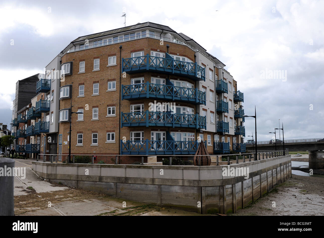 The Ropetackle arts centre and housing development at Shoreham by sea in Sussex UK - Stock Image